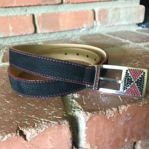Streets Ahead Black Leather Belt Sz L